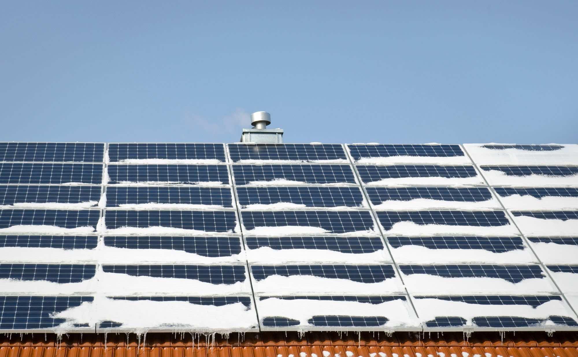 Solceller i Sverige om vintern