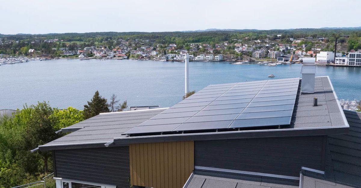 solpanel på tak